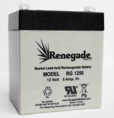 Rg1250 6fm4 Or 5 Long Way Battery Batteries